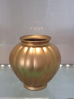Dekoratives Goldener Vase aus Glas Höhe 17cm Neu Vitrinendeko/objekt Vase Gold