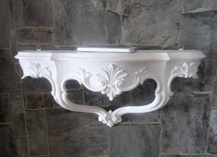 Wandkonsole/Spiegelkonsolen/Wandregal BAROCK ANTIK Weiß B:45cm cp68