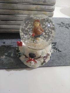 weihnachtskugel Glaskugel Schneekugel schneemann Mädchen im schnee schneeflocken - Vorschau 2