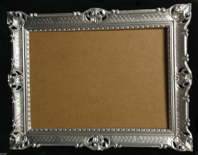 Bilderrahmen Barock Silber Hochzeitsrahmen Antik 90x70 Bilderrahmen groß - Vorschau 2