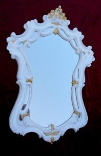 Wandspiegel Weiß-Gold Antik Oval Badspiegel 54X39 Shabby Flurspiegel c498