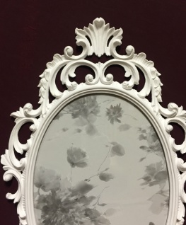 Bilderrahmen Barock Weiß Oval 43x27 Bilderrahmen Antik Fotorahmen C531 Photo - Vorschau 4