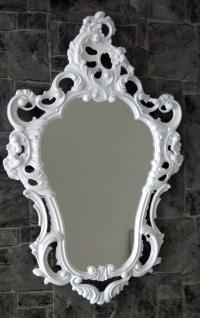 Wandspiegel Weiß ornamente Antik Spiegel Barock Shabby oval Badspiegel 50x76 - Vorschau 2