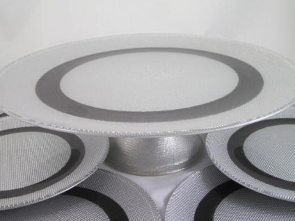 Service-Platte 33cm Kuchenplatte Kuchen Teller 7 Teilig