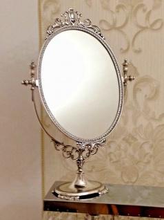 Standspiegel Silber MESSING Schminkspiegel Kippspiegel Antik schwenk Spiegel H49