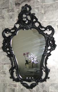 Wandspiegel Oval Schwarz Matt Barock Antik Retro Gothik 50x76 Badspiegel