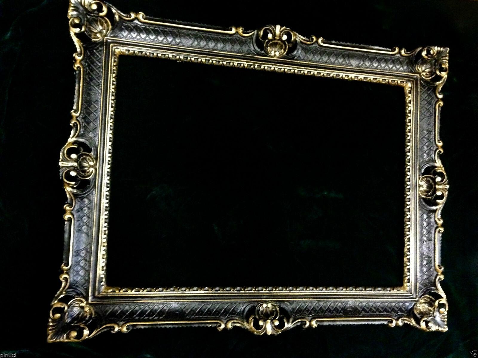 bilderrahmen schwarz gold fotorahmen barock antik hochzeitsrahmen 90x70 prunk kaufen bei. Black Bedroom Furniture Sets. Home Design Ideas
