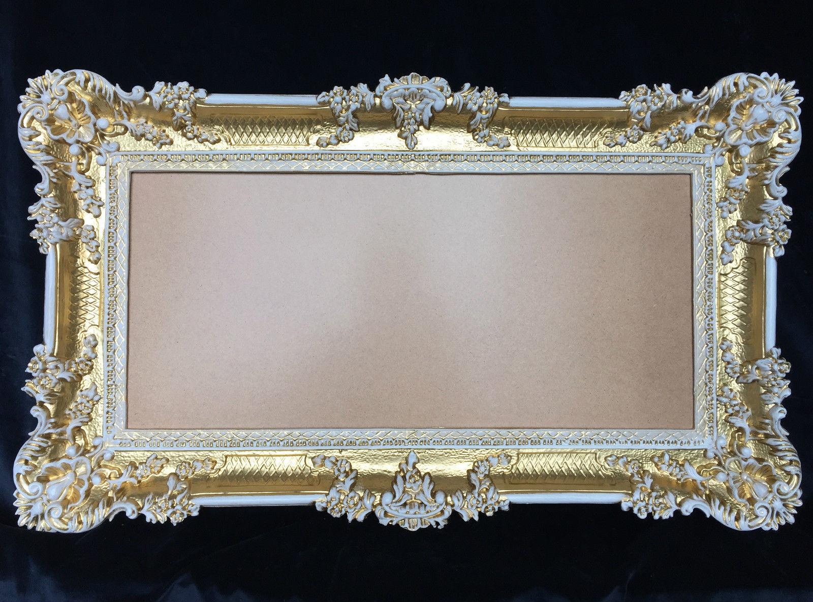 Bilderrahmen Barock Gold-Weiß Hochzeitsrahmen 96x57 Bilderrahmen ...