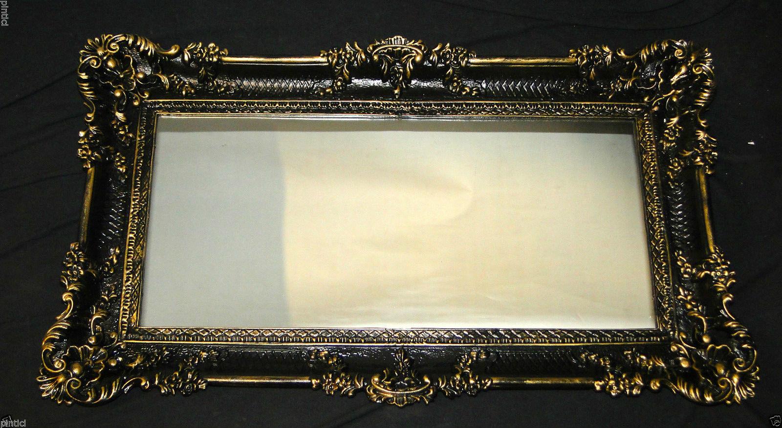 wandspiegel barock schwarz gold spiegel wanddeko deko 97x57 antik gro kaufen bei pintici. Black Bedroom Furniture Sets. Home Design Ideas