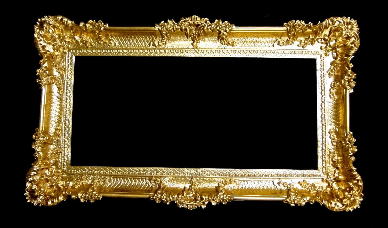 BAROCK Spiegel Wandspiegel Rechteckig Antik Badspiegel Gold Antik ...