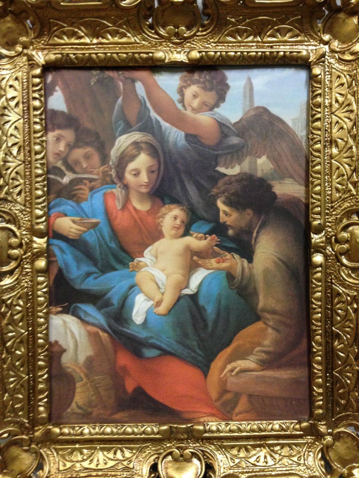 Geburt Jesus in der Krippe 56cm Antik Rahmen Jesus Christus Maria ...