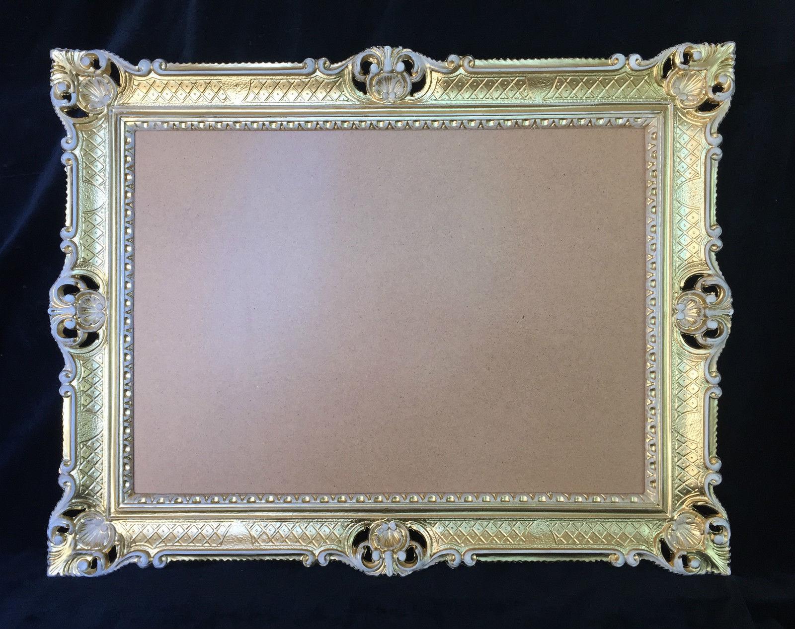 xxl bilderrahmen gold wei barock antik 90x70 hochzeitsrahmen gro fotorahmen kaufen bei. Black Bedroom Furniture Sets. Home Design Ideas