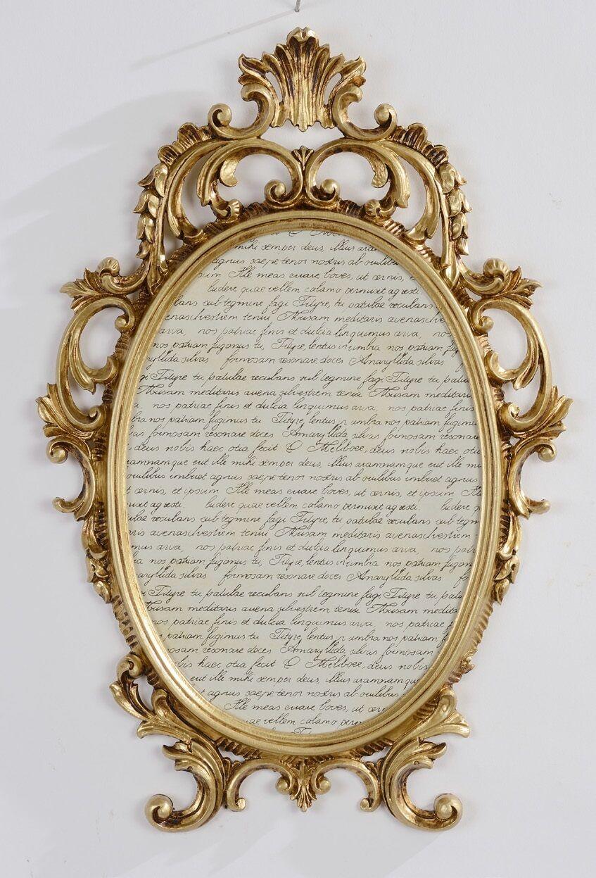 bilderrahmen barock gold oval antik mit glas 43x27 bilderrahmen fotorahmen c531 kaufen bei. Black Bedroom Furniture Sets. Home Design Ideas