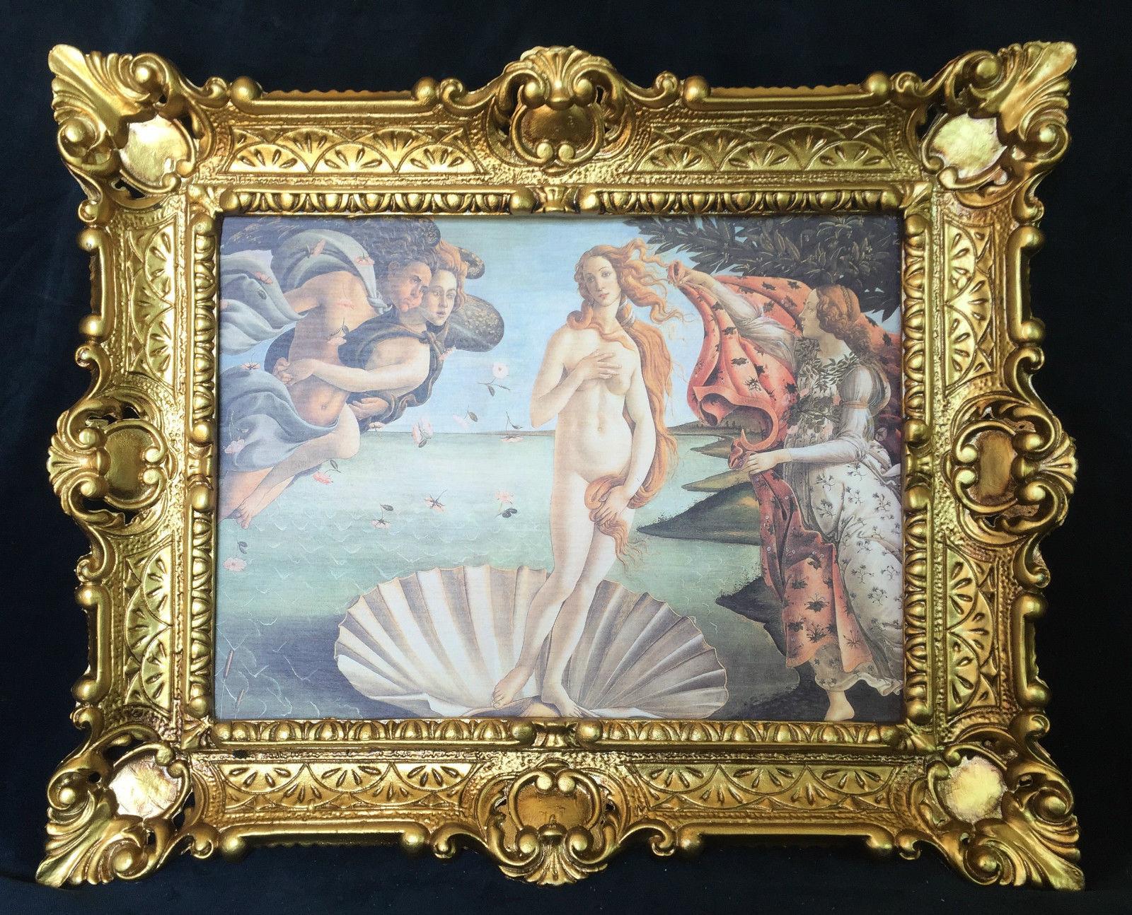 Die Geburt der Venus Gemälde von Sandro Botticelli 56x46 Gerahmte ...