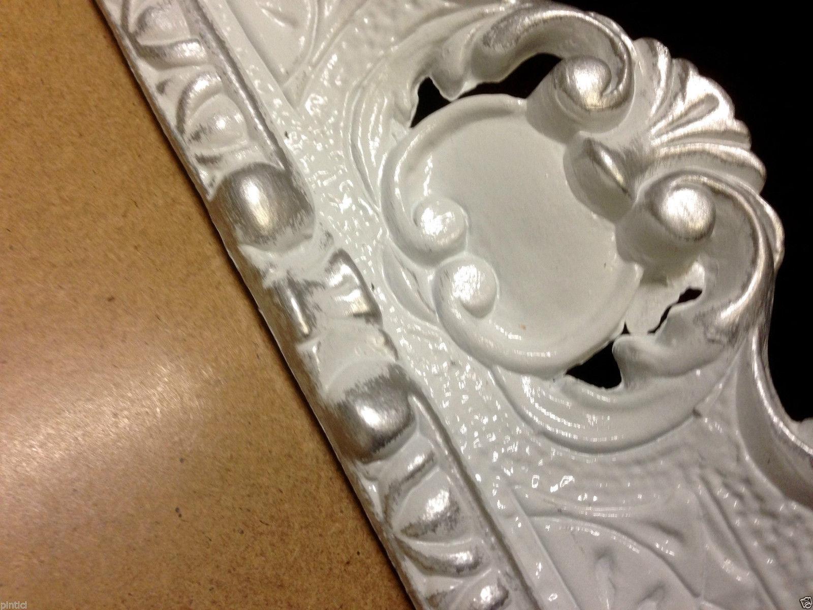 Bilderrahmen Barock Weiß-Silber 57x47 Rahmen Antik Rechteckig Shabby ...