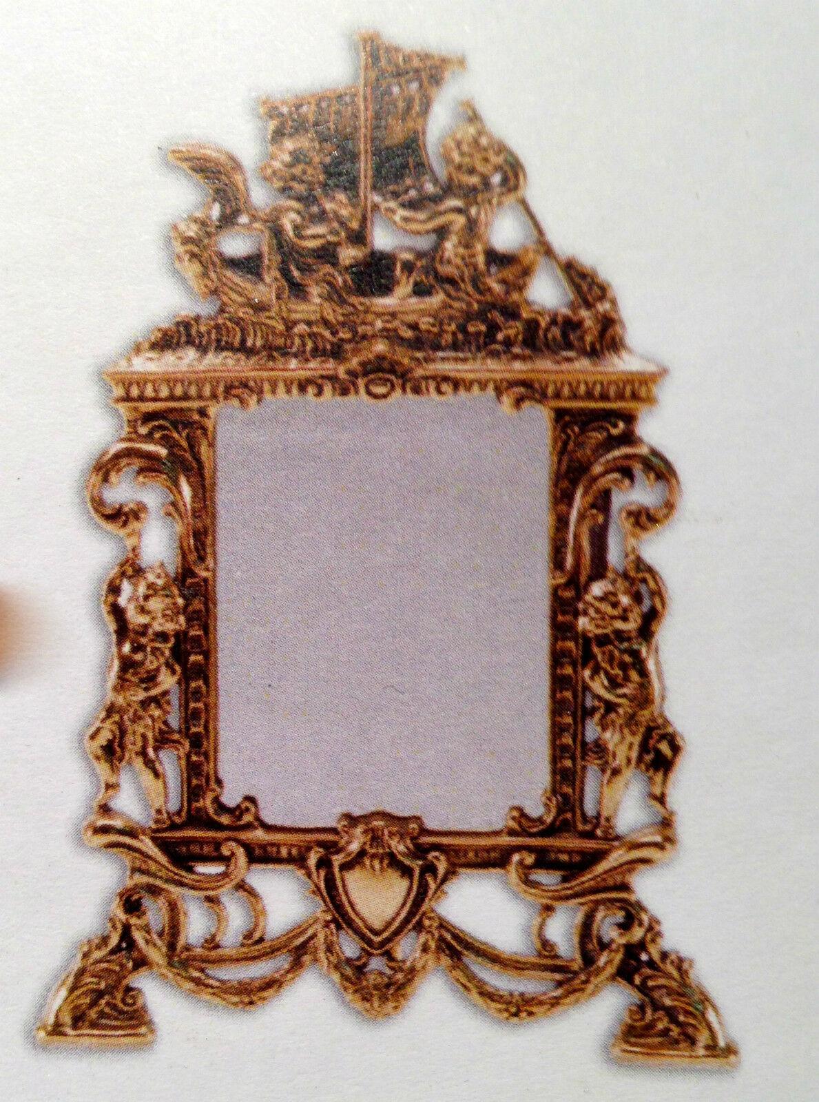 Standspiegel Schminkspiegel Messing Gold Kosmetikspiegel 25x17antik