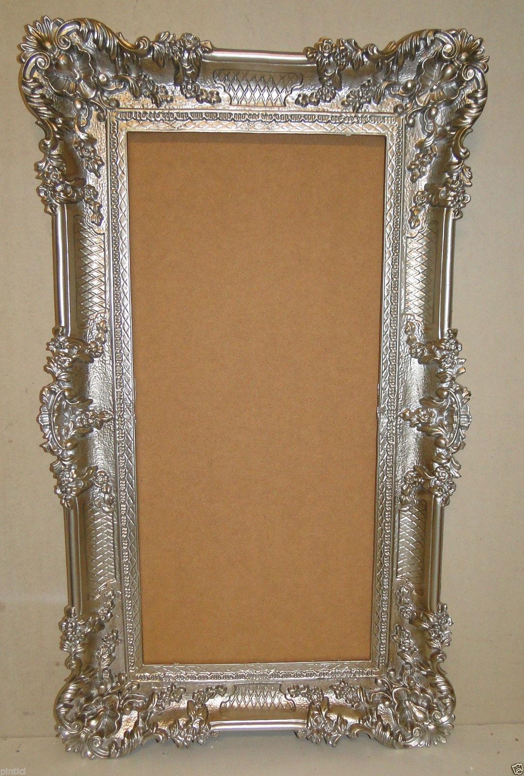 bilderrahmen antik silber 96x57 spiegelrahmen. Black Bedroom Furniture Sets. Home Design Ideas