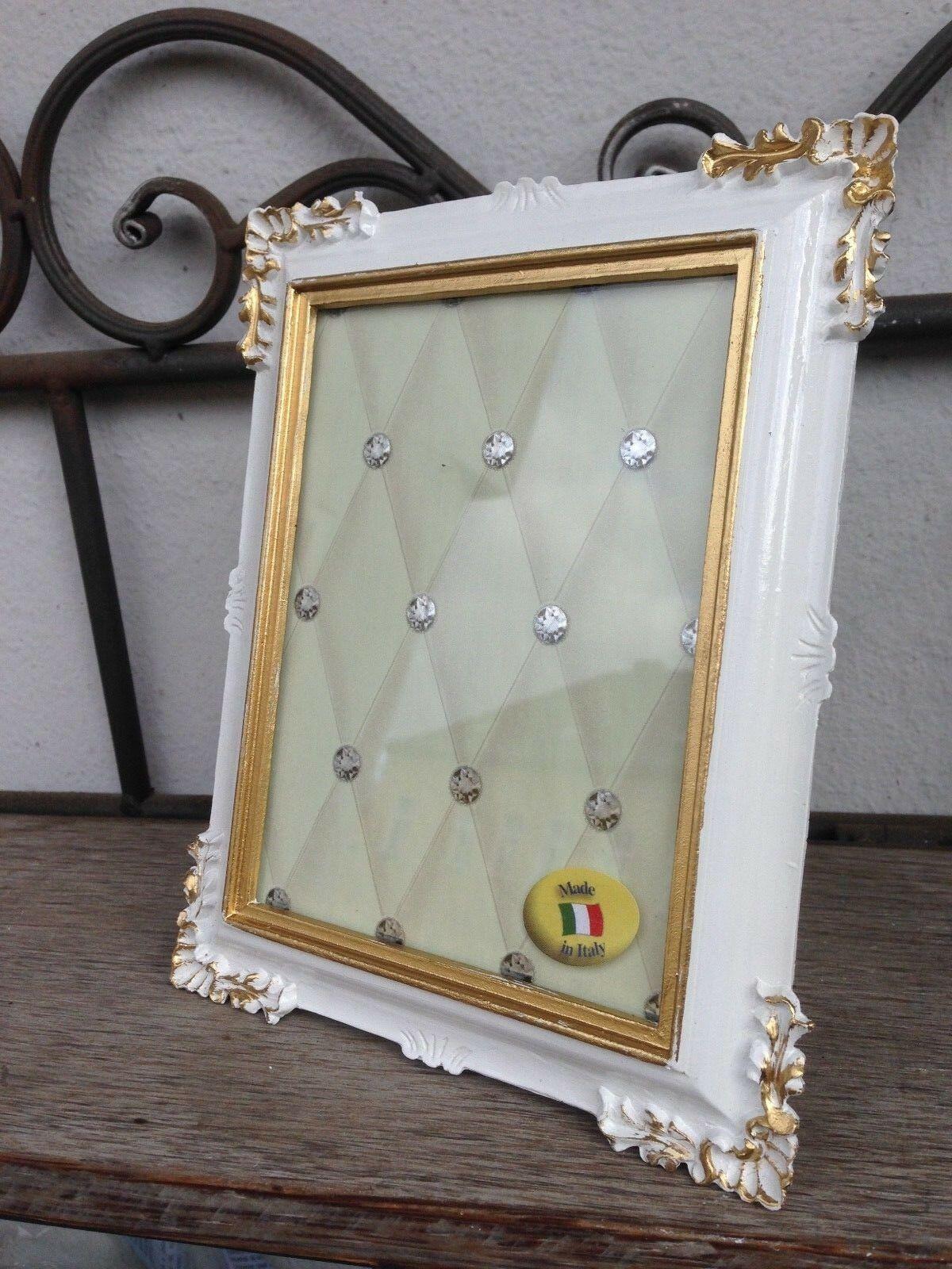 Bilderrahmen  Weiß Gold Barock 13x12 Fotorahmen Antik Rahmen Jugendstil Deko