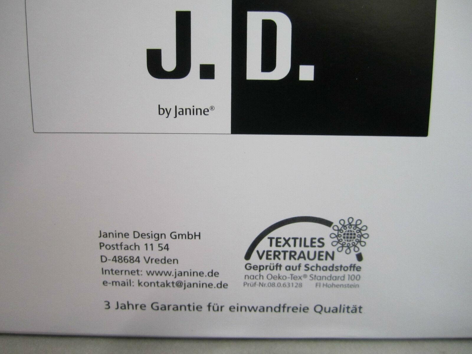 Janine Mako Satin Bettwäsche 135x200cm 2 Tlg Bettgarnitur Schwarz