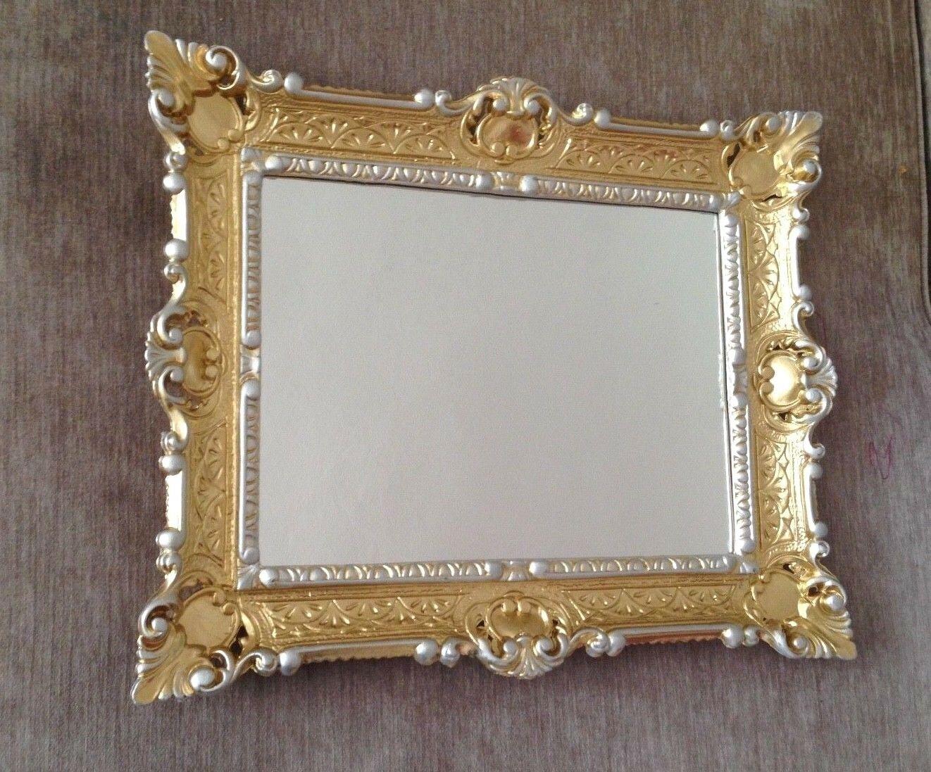 Italienischer Wandspiegel mit Gold-Silber Rahmen Barock Spiegel ...