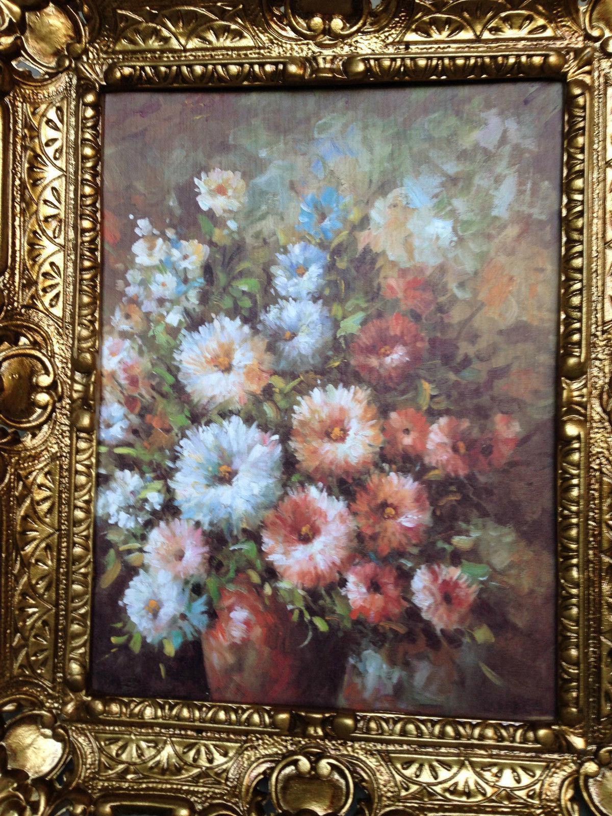 gem lde rosen mit braune vase wandbild 57x47 bild mit rahmen blumen bild 03 kaufen bei pintici. Black Bedroom Furniture Sets. Home Design Ideas