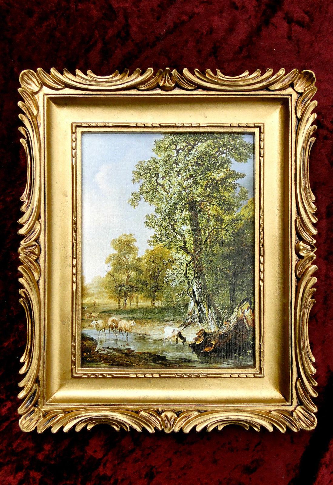 Bilderrahmen Gemälde 33x28 Antik BAROCK Rechteckig Bild LEINWAND ...