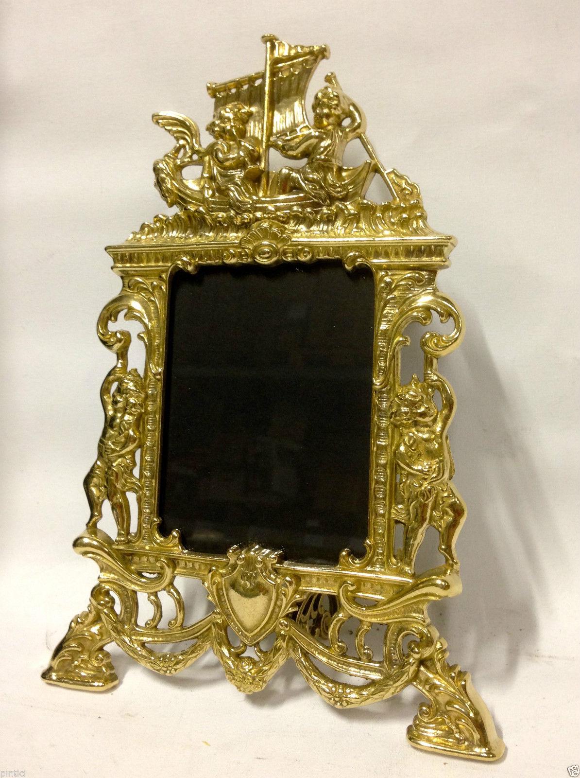Bilderrahmen Messing Gold Fotorahmen Rahmen 25x17Antik ENGEL 9x13cm ...