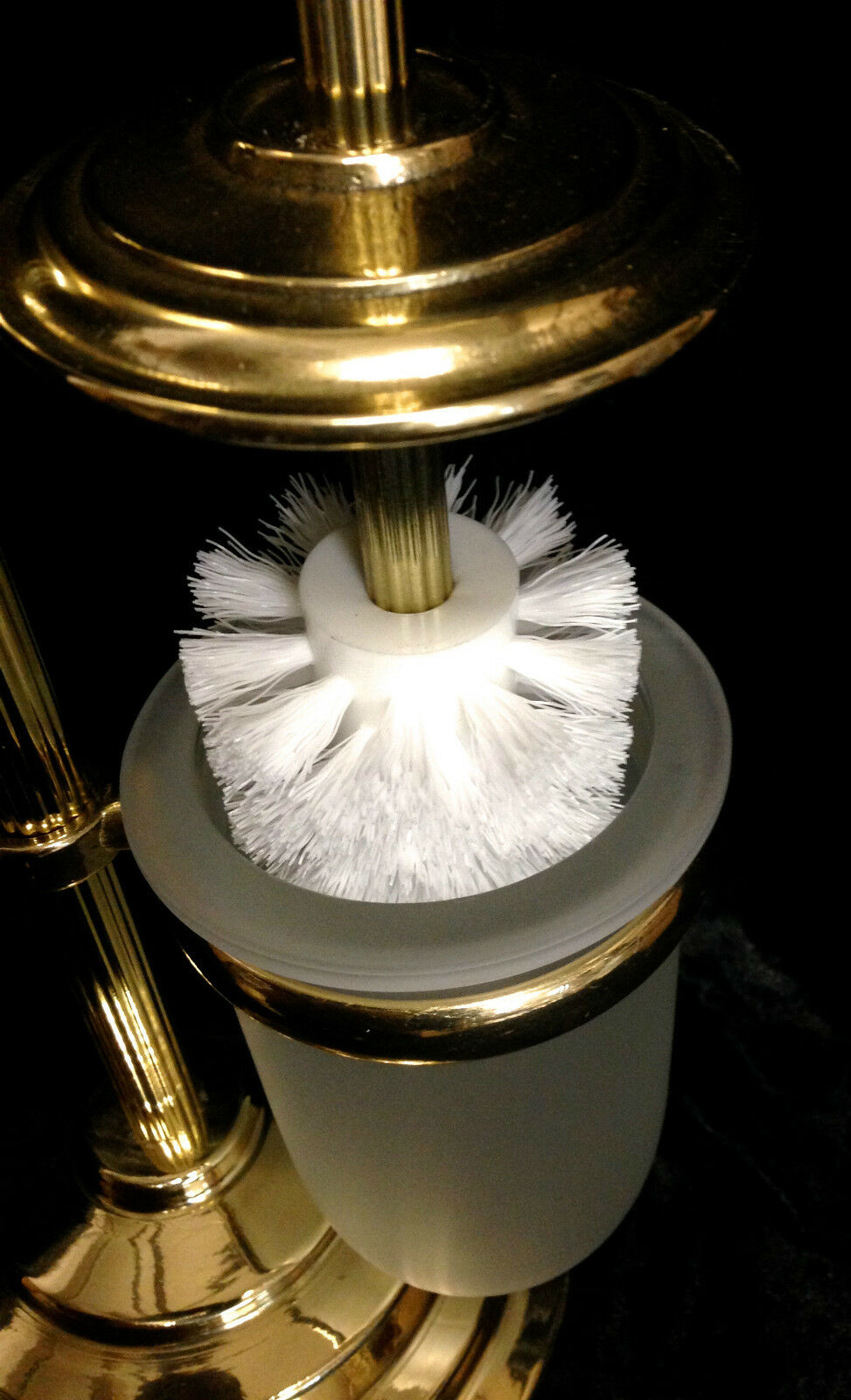 stand wc garnitur 71 cmtoilettenb rste klopapierhalter b rste poliertes messing kaufen bei. Black Bedroom Furniture Sets. Home Design Ideas