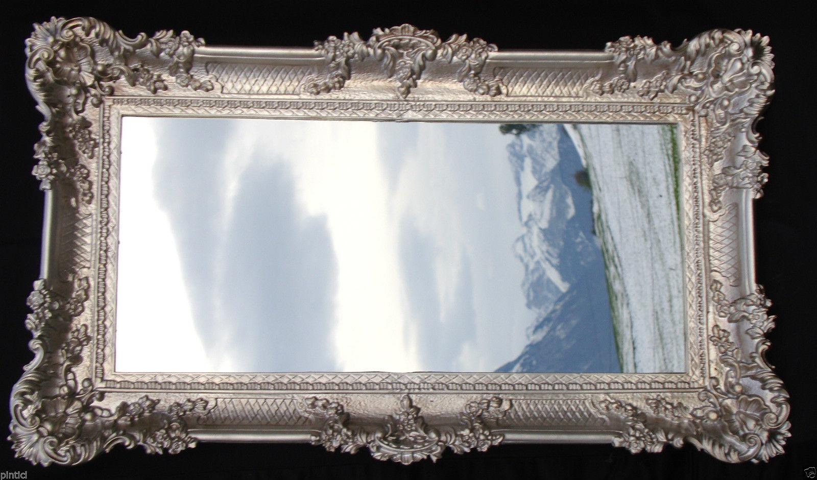 wandspiegel barock antik silber bad spiegel wanddeko 97x58