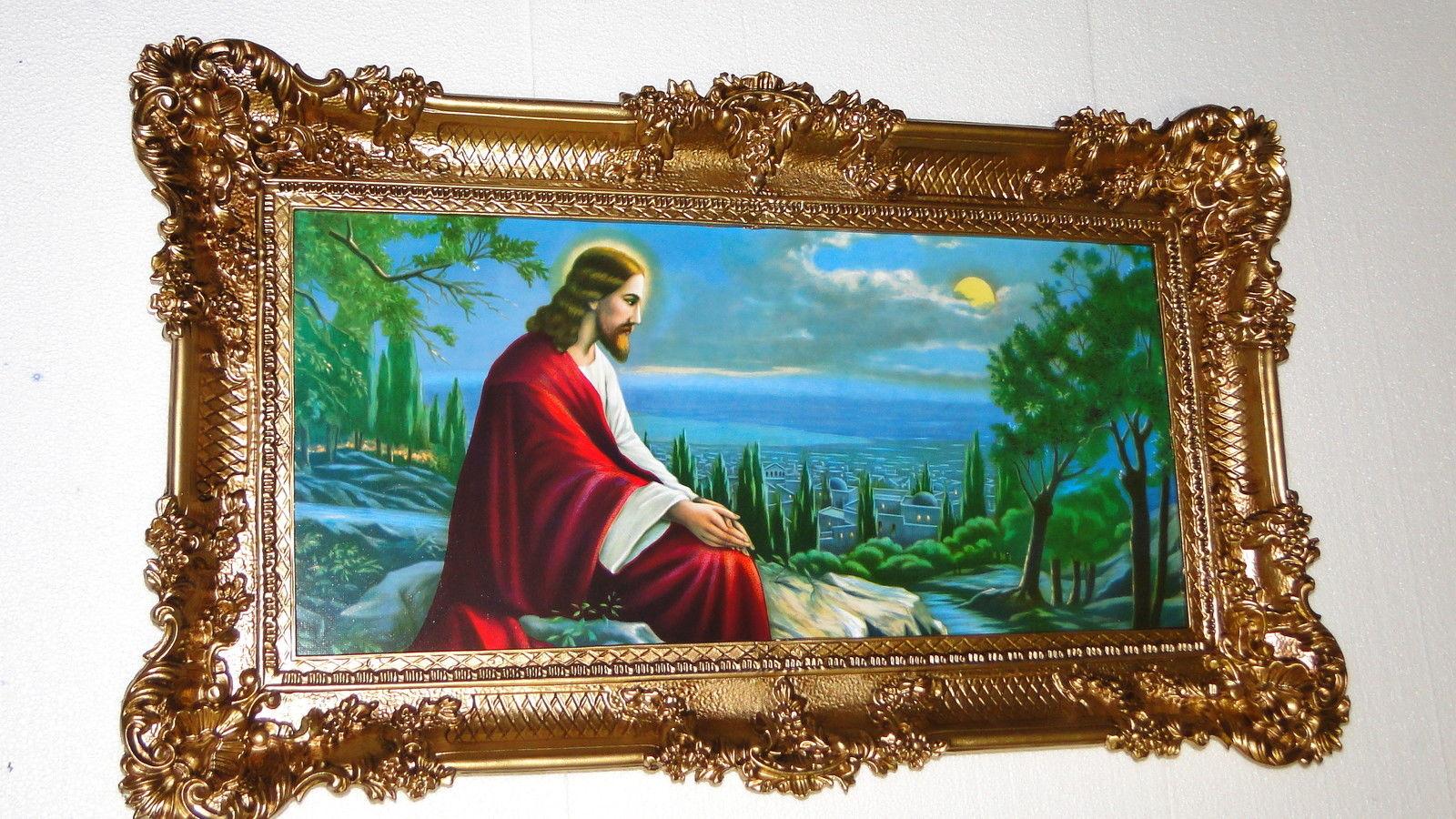 heilige christliche Bild mit Rahmen Jesus in Jerusalem 97x58 Jesus ...
