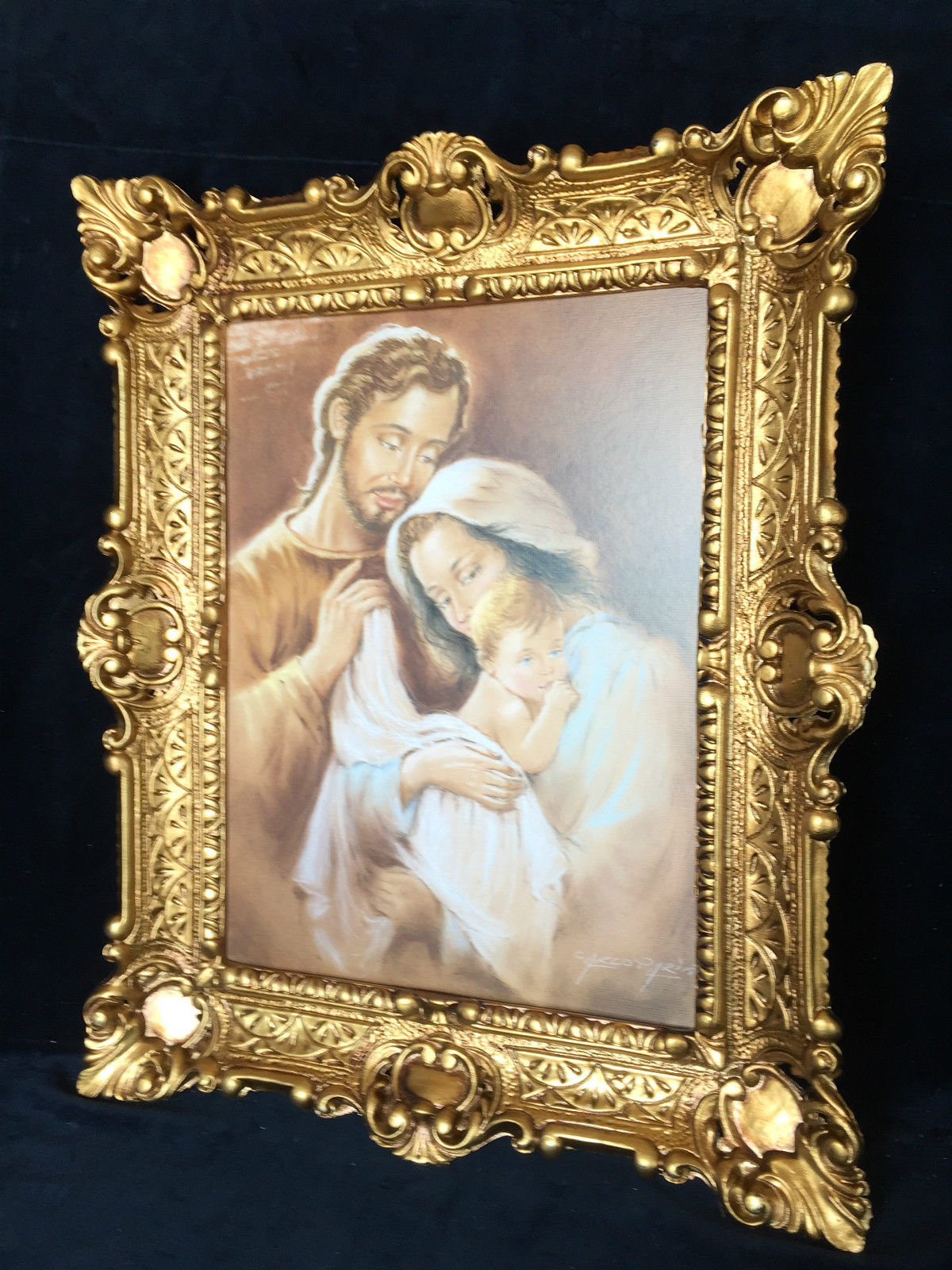 Bild Heilige Bild 57x47 Antik Rahmen Jesus Christus Maria Mutter ...