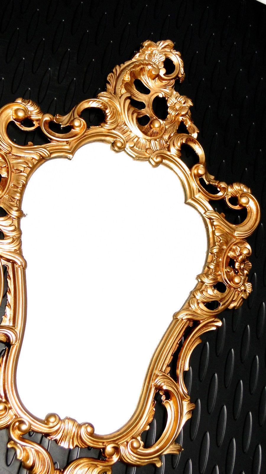 Wandspiegel gold antik spiegel in jugendstil badspiegel barock 50x76 neu kaufen bei pintici - Badspiegel 50 x 70 ...