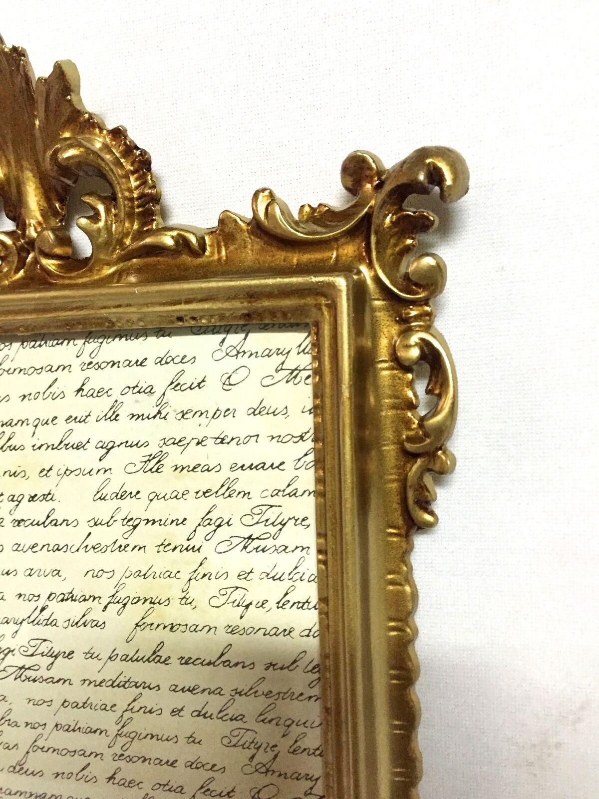 Bilderrahmen mit Schutzglas Barock Gold Antik 36x24 Bilderrahmen ...