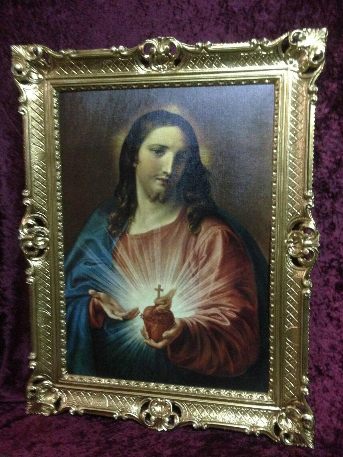 Heiligenbilder 90x70 Jesus Christus Gemälde mit Rahmen Ikone ...