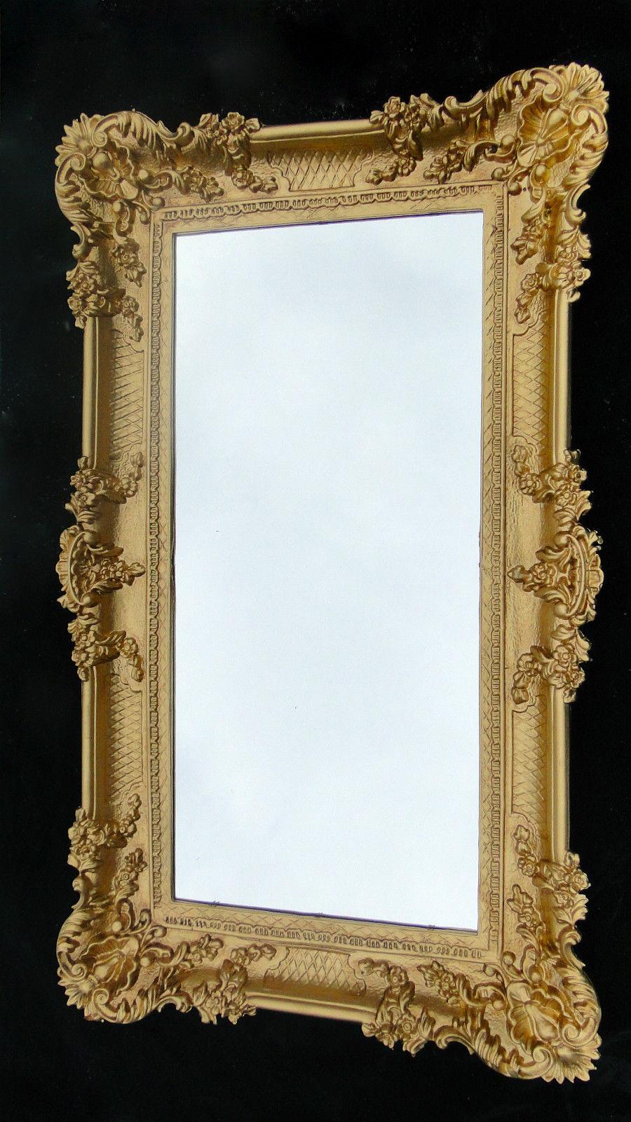 wandspiegel barock gold spiegel antik 96x57 badspiegel. Black Bedroom Furniture Sets. Home Design Ideas