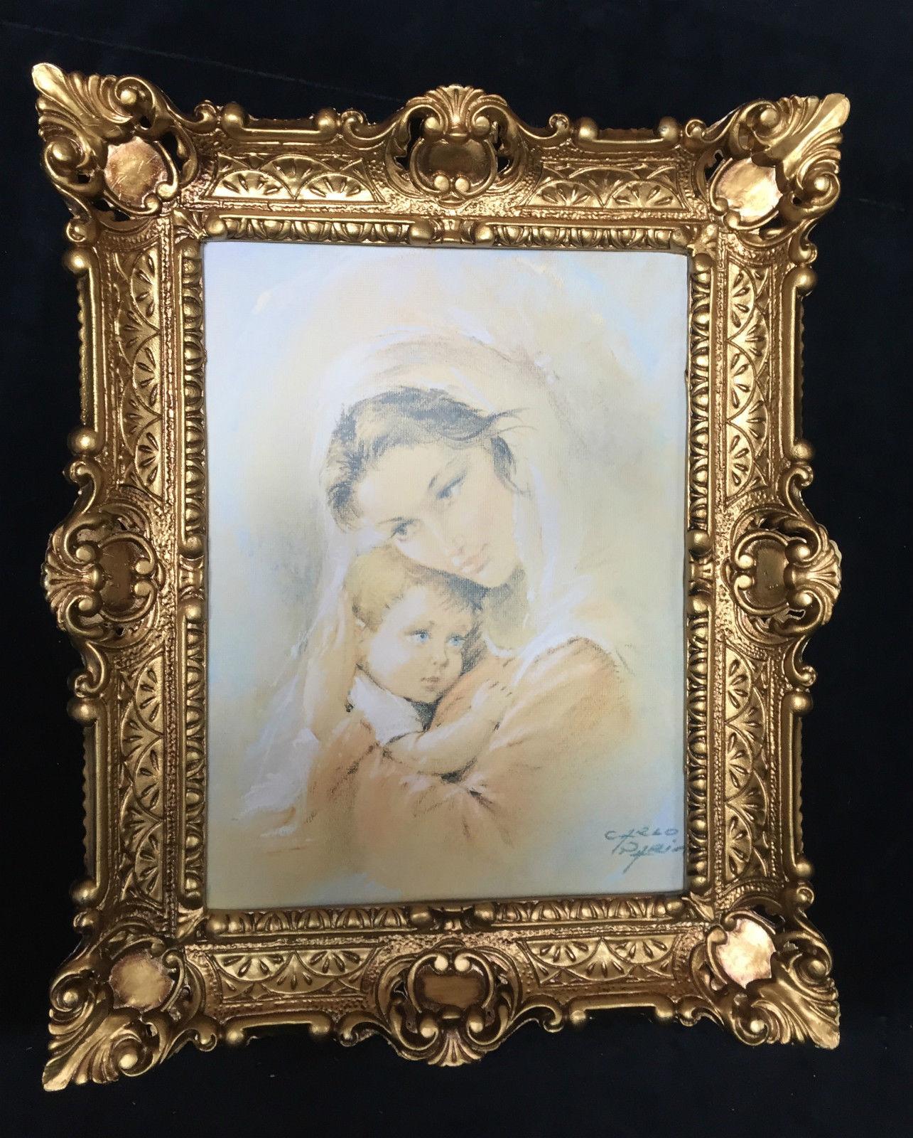 Bild Frau und Baby Wandbild & Rahmen 56x46 Gerahmte Gemälde heilige ...