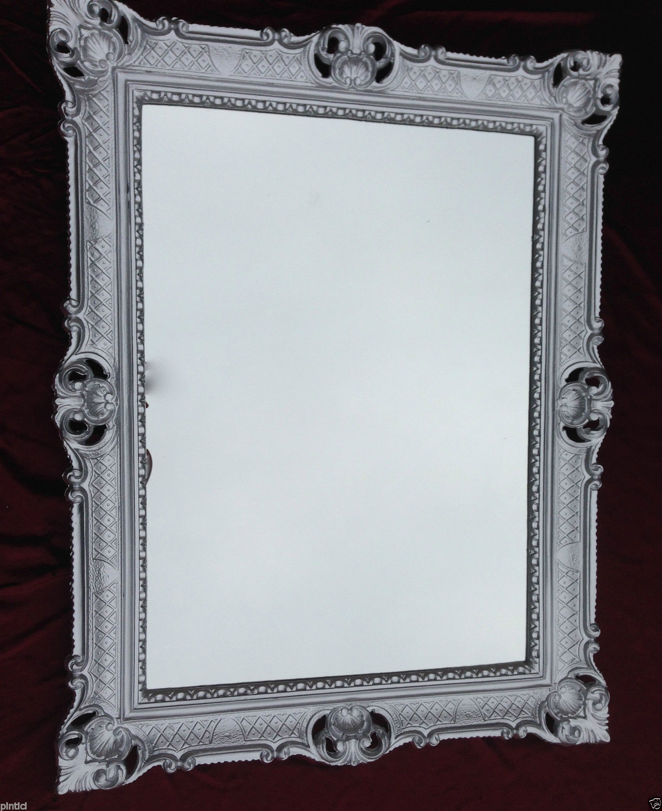 Bilderrahmen Silber REPRO 90x70 Gemälderahmen Barock Fotorahmen ...