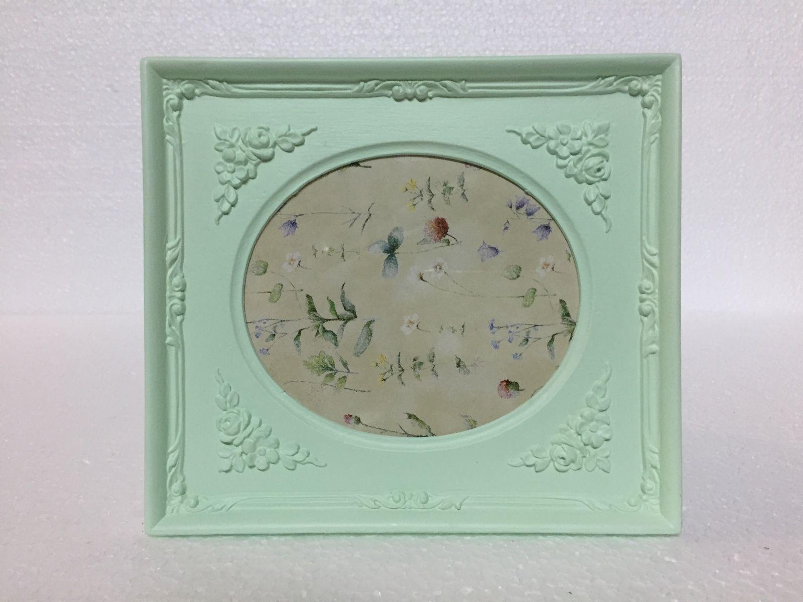 Bilderrahmen Mint Grün 19x17 Antik Barockrahmen oval rechteckig ...