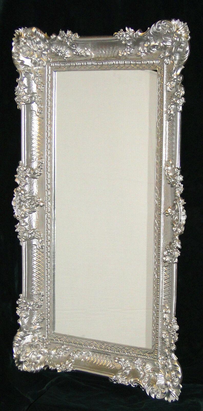 wandspiegel barock gro er spiegel silber hochglanz 97x57 bilderrahmen antik kaufen bei pintici. Black Bedroom Furniture Sets. Home Design Ideas