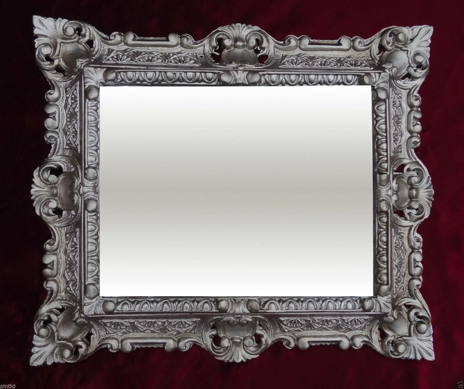 Bilderrahmen Antik Silber Rechteckig 45x37 Foto Spiegelrahmen ...