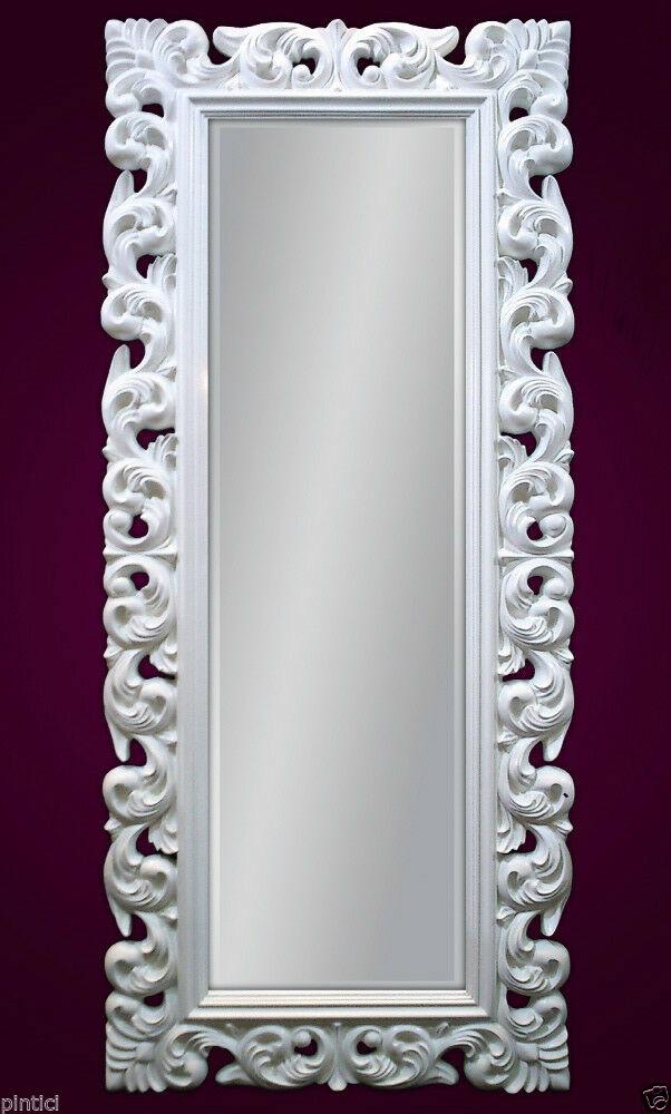 gro er barock wandspiegel florenz 190x80cm standspiegel spiegel weiss kaufen bei pintici. Black Bedroom Furniture Sets. Home Design Ideas