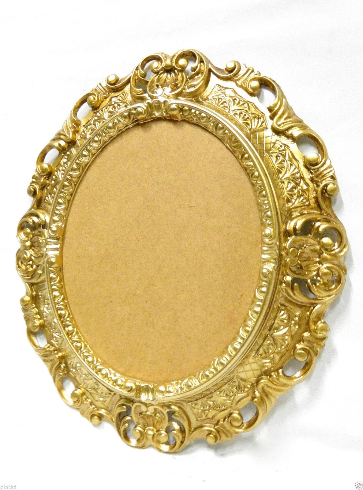 BILDERRAHMEN OVAL Gold Antik Barock Fotorahmen Rahmen 45X37 ...