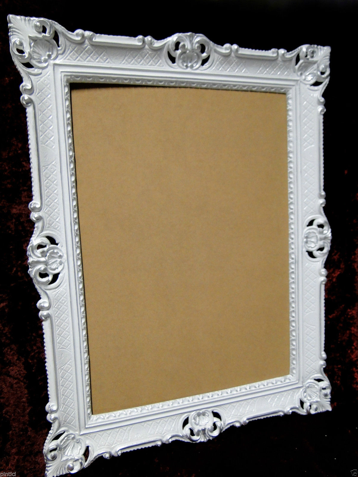 bilderrahmen barock wei silber hochzeitsrahmen antik 90x70 fotorahmen gro 3057 kaufen bei. Black Bedroom Furniture Sets. Home Design Ideas