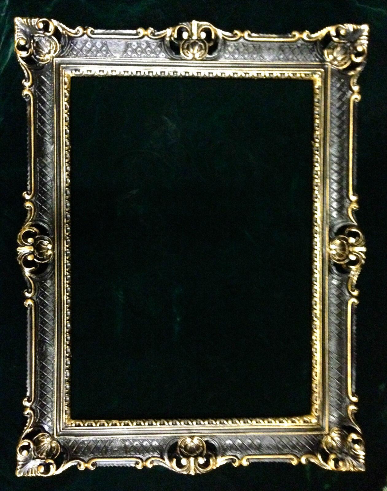Bilderrahmen Schwarz-Gold Fotorahmen Barock Antik Hochzeitsrahmen ...