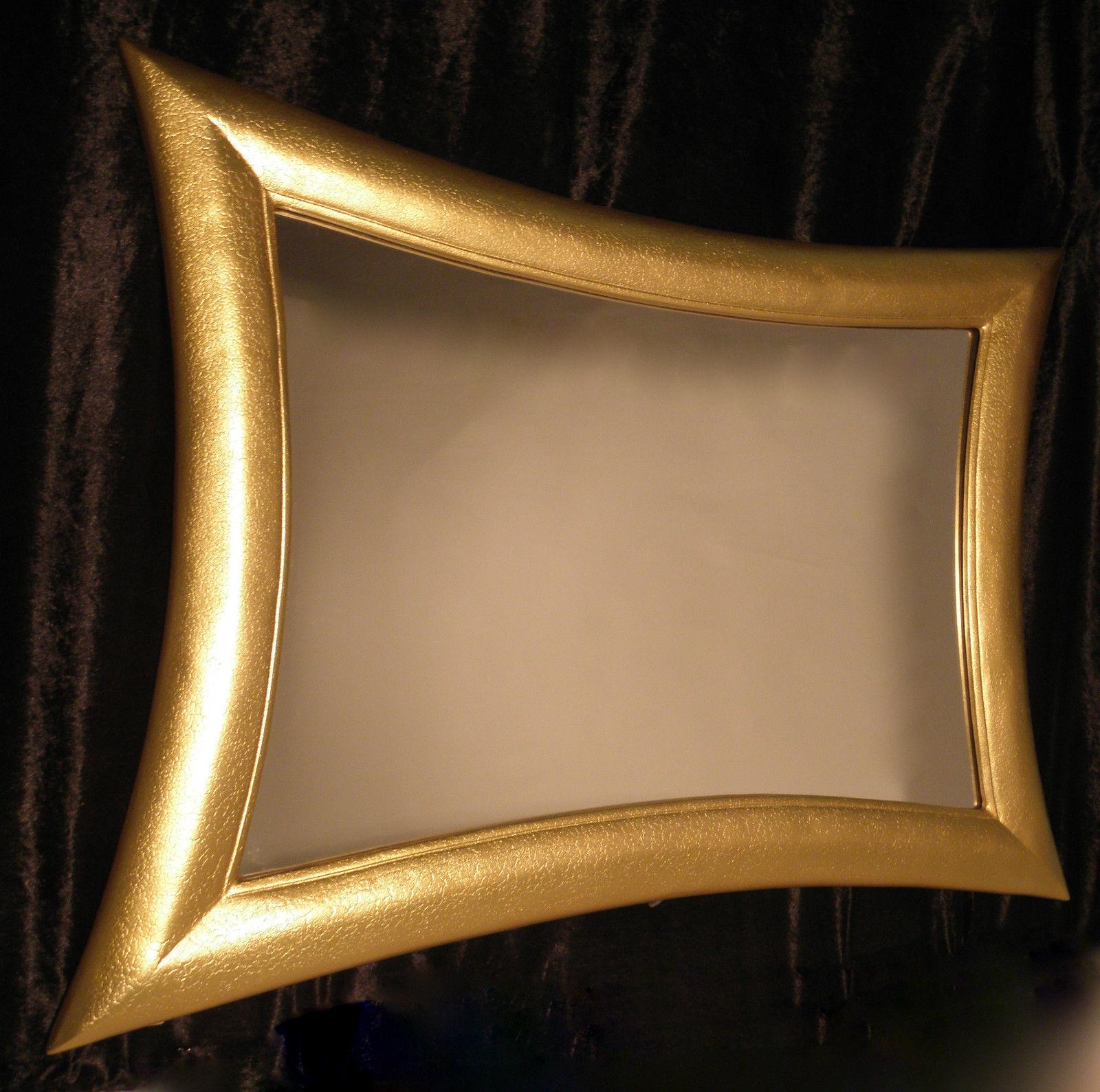 Wandspiegel Gold Rechteckig 115 x 85 XXl Spiegel Wandspiegel Retro ...