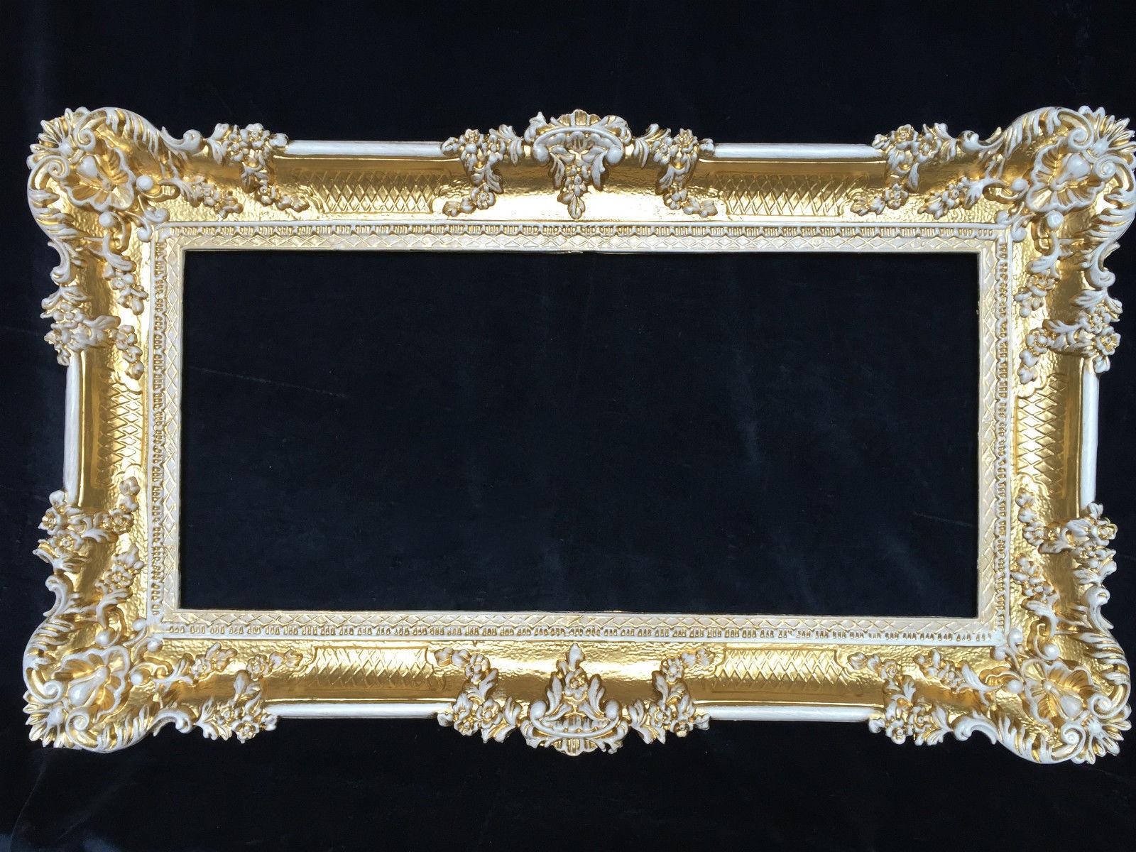 bilderrahmen antik gold wei hochzeitsrahmen barock 96x57. Black Bedroom Furniture Sets. Home Design Ideas
