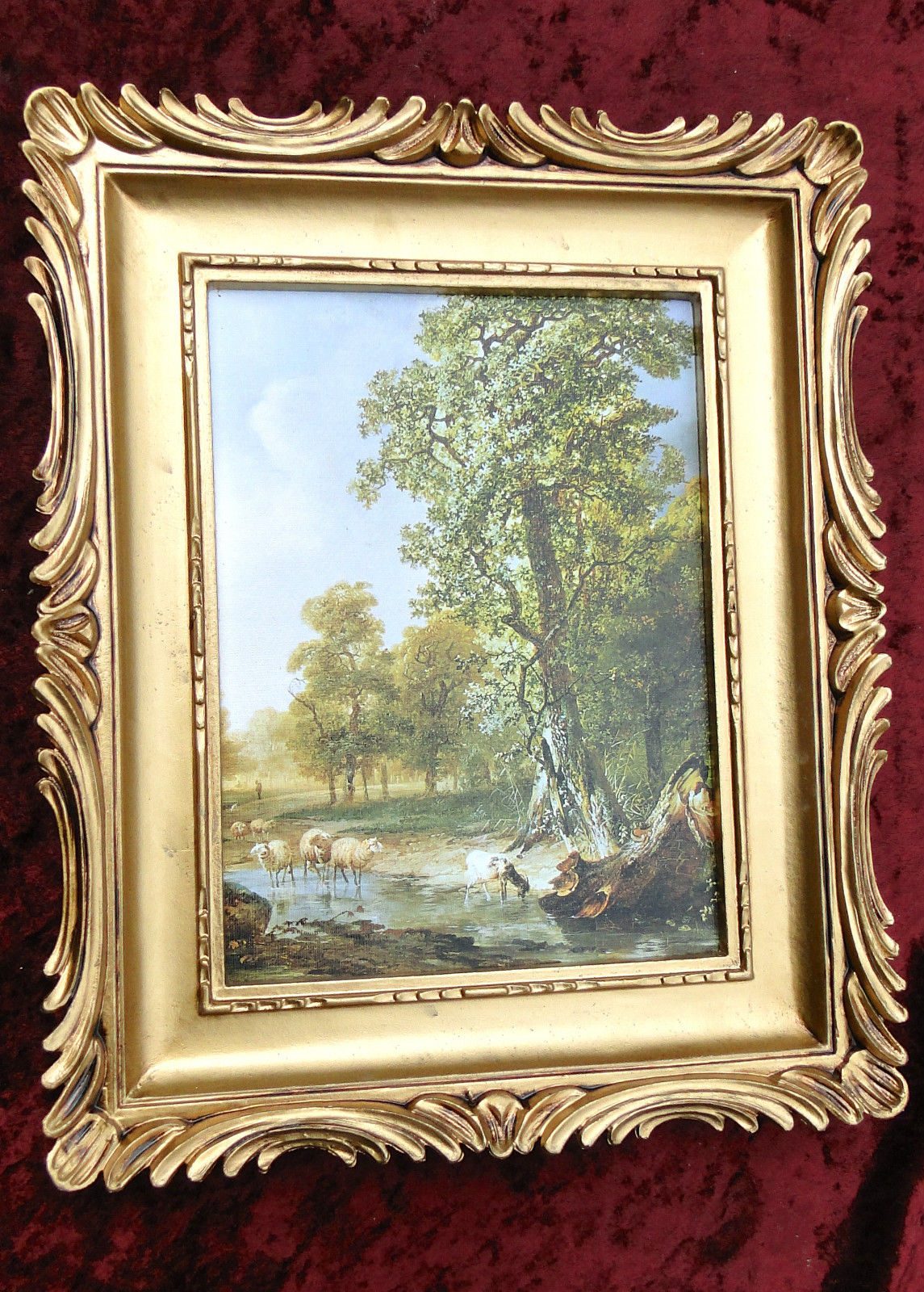 2 x Bilderrahmen Gemälde 33x28 Antik BAROCK Rechteckig Bild LEINWAND ...