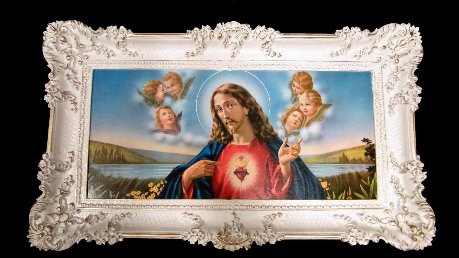 Bilder mit Rahmen jesus Christus Gerahmte Gemälde Bilder 96x57 ...