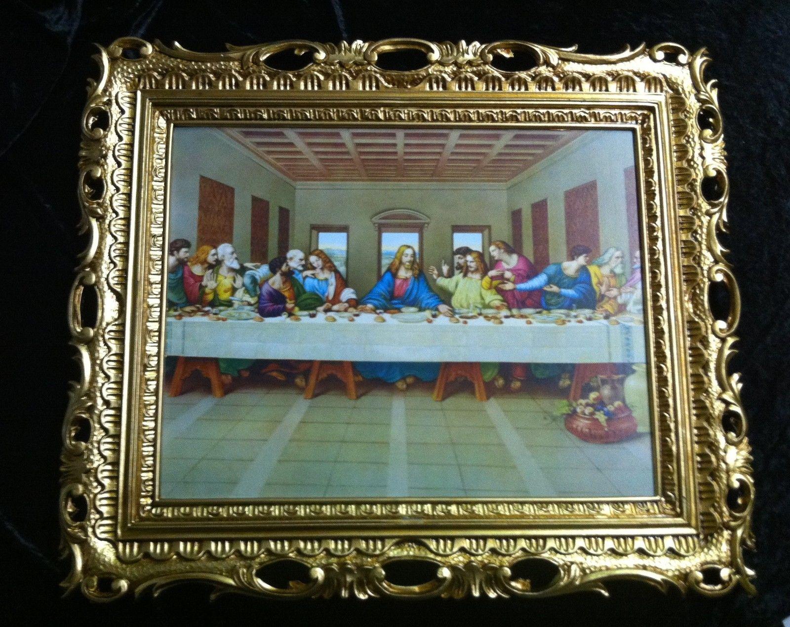 Das Abendmahl 68x58 Ikonen religiöse Gemälde, Bilderrahmen 68x58 ...