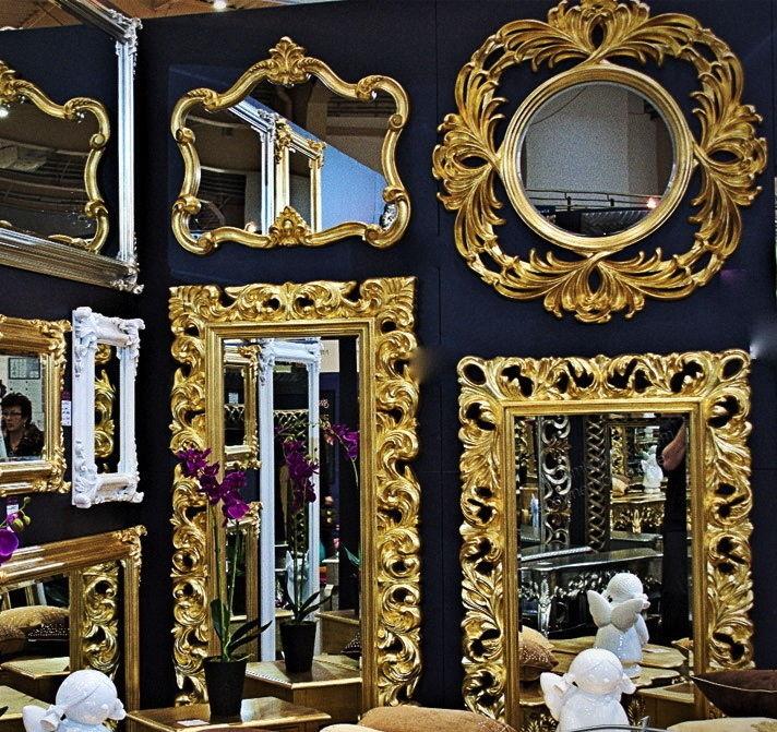gro er barock wandspiegel flurspiegel 149x89 cm. Black Bedroom Furniture Sets. Home Design Ideas